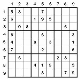 Example Sudoku Puzzle