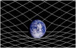 Space grid deformed by a planet