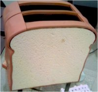 Bread-shaped toaster
